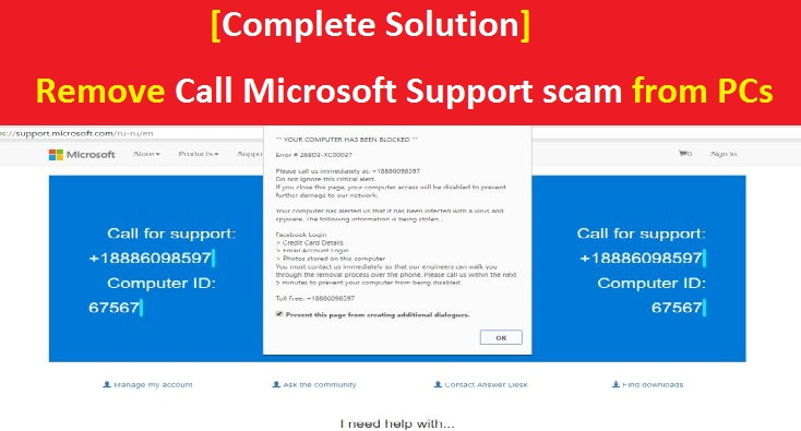 microsoft windows 10 support scams