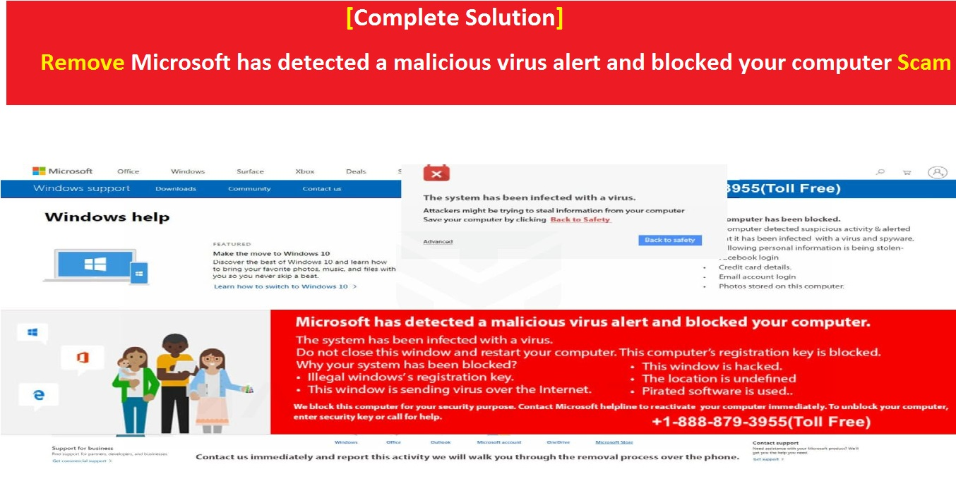 Solution] Remove Microsoft has detected a malicious virus