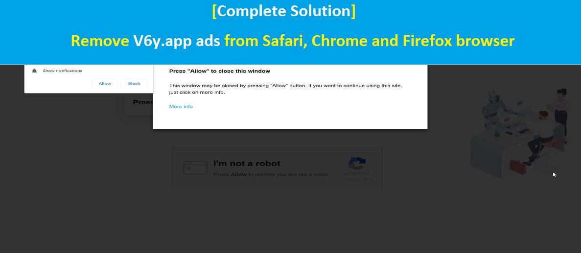 Solution] Remove V6y app ads from Safari, Chrome and Firefox