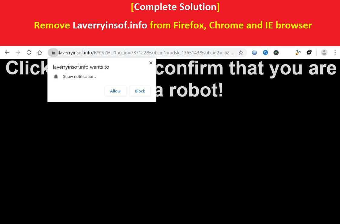 Remove Laverryinsof info from Firefox, Chrome and IE browser